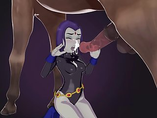 Raven Having Some Fun (skuddbutt) (full Version In Comments)[horse] (gfycat.com)