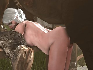 Ciri Bent Over (blueberg)[horse] (gfycat.com)