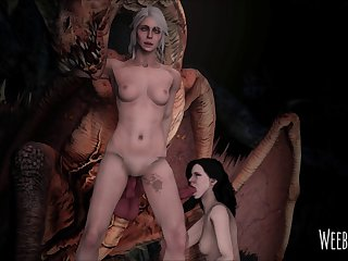 Ciri And Yennefer Had To Team Up In Order To Take Down The Royal Wyvern. (witcher 3) [weebstank] (gfycat.com)