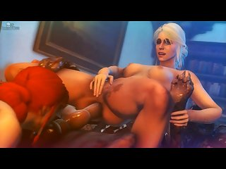 Triss & Ciri Sharing (darktronicksfm)[dog Wolf] (gfycat.com)