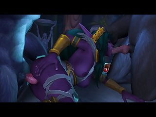 Tyrande Spitroasted By Worgen (tin Sfm)[dog Wolf] (gfycat.com)