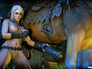 Ciri And A Horse [the Witcher](the Firebrand)[horse] (gfycat.com)