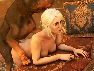 Ciri Getting Pounded From Behind (darktronicksfm)[dog Wolf] (gfycat.com)
