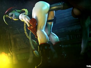 Cammy White Milking A Horse [street Fighter](the Firebrand)[horse] (gfycat.com)