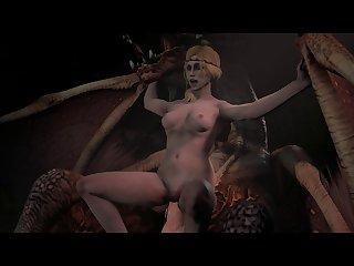 Saskia The Dragonslayer Riding A Dragon Cock [witcher 3] (weebstank)[monster] (gfycat.com)