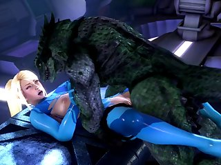 Samus Fucked By Lizardman, (noname55) [metroid][monster] (gfycat.com)