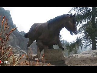 Horny Horse Ploughs Nord Pussy Naughty Machinima 2